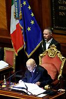 Giorgio Napolitano<br /> Roma 23/03/2018. Prima seduta al Senato dopo le elezioni.<br /> Rome March 23rd 2018. Senate. First sitting at the Senate after elections.<br /> Foto Samantha Zucchi Insidefoto
