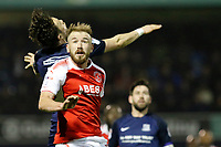 Paddy Madden of Fleetwood Town in action during the Sky Bet League 1 match between Southend United and Fleetwood Town at Roots Hall, Southend, England on 13 January 2018. Photo by Carlton Myrie.