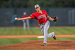4 September 2016: Lowell Spinners pitcher Pat Goetze on the mound against the Vermont Lake Monsters at Centennial Field in Burlington, Vermont. The Spinners defeated the Lake Monsters 8-3 in NY Penn League action. Mandatory Credit: Ed Wolfstein Photo *** RAW (NEF) Image File Available ***