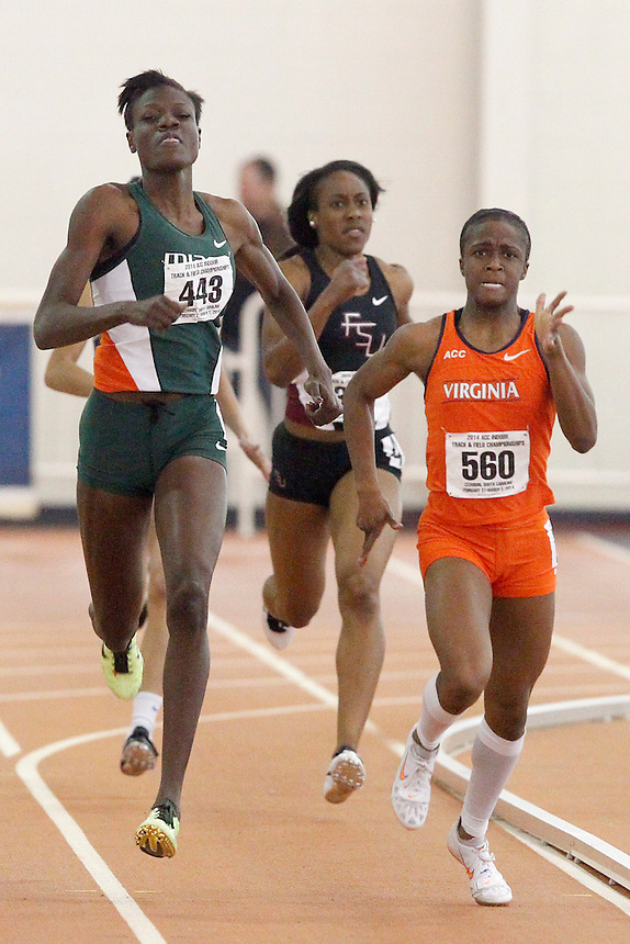 Miami's Shakima Wimbley (443) Virginia's Jordan Lavender (560)