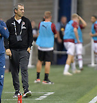 Milan head coach Marco Giampaolo watches play during their International Champions Cup match against Bayern Munich on July 23, 2019 at Children's Mercy Park in Kansas City, KS.<br />