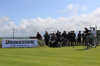 Ronan Mullarney (Galway) on the 1st tee during the Final of the AIG Irish Amateur Close Championship 2019 in Ballybunion Golf Club, Ballybunion, Co. Kerry on Wednesday 7th August 2019.<br /> <br /> Picture:  Thos Caffrey / www.golffile.ie<br /> <br /> All photos usage must carry mandatory copyright credit (© Golffile | Thos Caffrey)