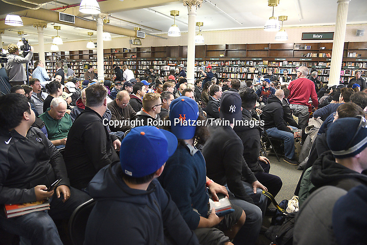 The crowd attends the Tiger Woods  book signing for his new book<br /> &quot;The 1997 Masters: My Story&quot; on March 20, 2017 at Union Square Barnes &amp; Noble in New York City, New York, USA.<br /> <br /> photo by Robin Platzer/Twin Images<br />  <br /> phone number 212-935-0770