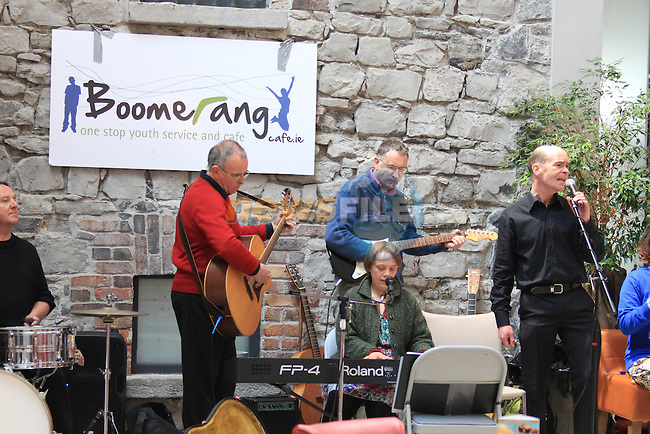 .at the Boomerang Cafe fund raiser in scotch hall..Picture  www.newsfile.ie..