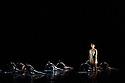 "London, UK. 28/10/2011. Clod Ensemble present ""An Anatomie in Four Quarters"" at Sadler's Wells. Dancers: Zoe Bywater, Mariana Camiloti, Valentina Golfieri, Laura de Vos, Silvia Mercuuriali, Matthew Morris, Pari Naderi, Ramona Nagabczynska, Yuyu Rau, Ino Riga, Owen Ridley-DeMonick, Alessandra Ruggeri. Photo: Jane Hobson"