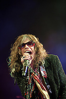 Steven Tyler of Aerosmith in concert at The Palace Of Auburn Hills in Auburn Hills, Michigan. July 5, 2012. Credit: MediaPunch Inc. *NORTEPHOTO.COM*<br />