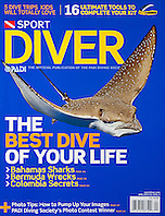 PADI Sport Diver Magazine, April 2010, cover use, USA, Image ID: Eagle-Ray-Spotted-0008-V