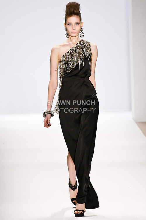 Alina Ismailova walks the runway in a Naeem Khan Fall 2010 outfit, during Mercedes-Benz Fashion Week Fall 2010.