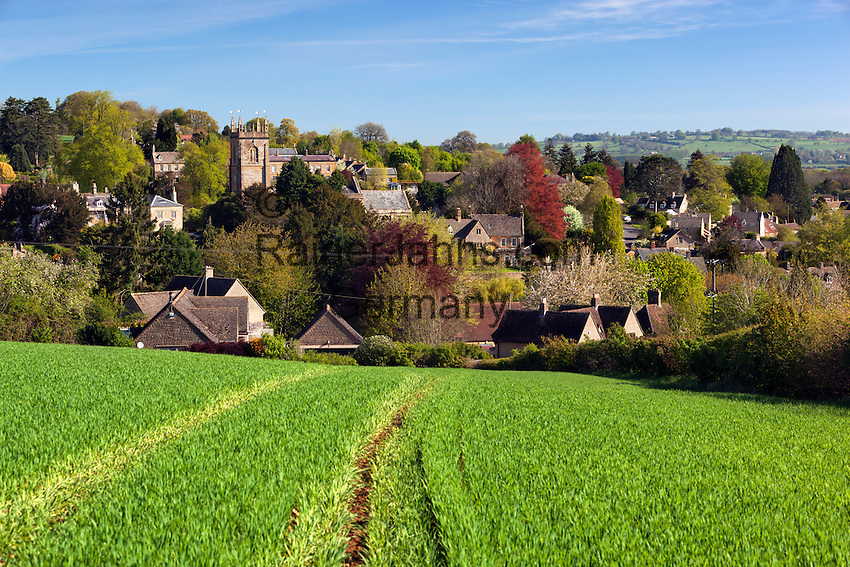 United Kingdom, England, Worcestershire, Blockley: View over cotswold village | Grossbritannien, England, Worcestershire, Blockley: typisches Dorf der Region Cotswolds