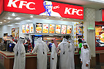 Asie; Golfe Persique; Moyen Orient; Emirat du Qatar; ville de Doha; galerie commerciale City Center, restaurant Kentucky Fried Chicken//Asia; Persian Gulf; Middle East; Emirate of Qatar; Doha city; City Center shopping Mall, Kentucky Fried Chicken restaurant