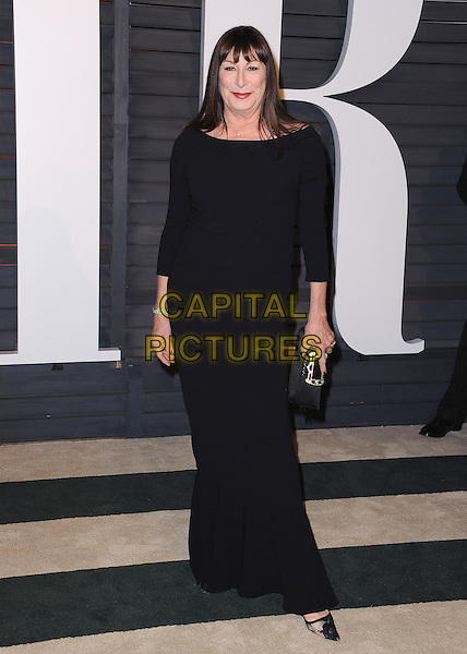 BEVERLY HILLS, CA - FEBRUARY 22:   Anjelica Huston at the 2015 Vanity Fair Oscar Party at the Wallis Anneberg Center for the Performing Arts on February 22, 2015 in Beverly Hills, California. <br /> CAP/MPI/PGSK<br /> &copy;PGSK/MediaPunch/Capital Pictures