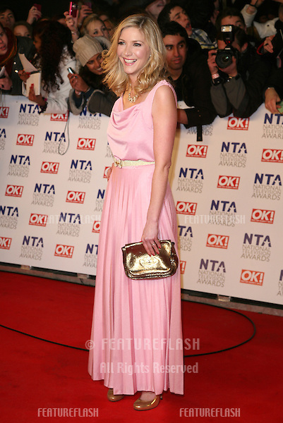 Lisa Faulkner arriving for the National Television Awards 2011, at the O2, London. 26/01/2011  Picture By: Alexandra Glen / Featureflash