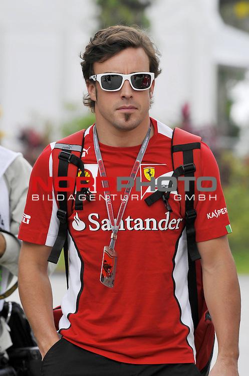 22-25.02.2012, Sepang-International-Circuit, Malaysia, MAL , Grosser Preis von Malaysia, Kuala Lumpur, im Bild Fernando Alonso (ESP),  Scuderia Ferrari <br />  Foto &copy; nph / Mathis