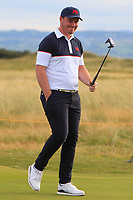 Thomas Sloman (GB&I) on the 17th green during Day 2 Singles at the Walker Cup, Royal Liverpool Golf CLub, Hoylake, Cheshire, England. 08/09/2019.<br /> Picture Thos Caffrey / Golffile.ie<br /> <br /> All photo usage must carry mandatory copyright credit (© Golffile | Thos Caffrey)