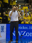 08.05.2018, EWE Arena, Oldenburg, GER, BBL, Playoff, Viertelfinale Spiel 2, EWE Baskets Oldenburg vs ALBA Berlin, im Bild<br /> alles OK!<br /> Mladen DRJENCIC (EWE Baskets Oldenburg #Headcoach, #Coach, #Trainer)<br /> Foto &copy; nordphoto / Rojahn