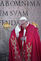 Pope Francis during of the Palm Sunday celebration on St Peter's square at the Vatican.April 9,2017