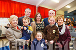 Attending the Grandparents day in Gaelscoil Mhic Easminn on Thursday morning last.  L tor: Myra, Gearoid, Caoimhe, Pa, Faooen and Irene Daly, Mary and Patrick Ross.