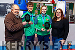 Presentation by the St Margret's Boxing Club Tralee on Sunday to Kori Goad (Abbeyfeale) and Barry O'Connor (Killorglin) presented by Paddy Fitzmaurice and Ash Fitzgerald for their success at the resent European Junior Boxing Championships in Russia.