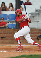 August 1, 2009: Outfielder Edgar Lara (27) of the Johnson City Cardinals, rookie Appalachian League affiliate of the St. Louis Cardinals, in a game at Howard Johnson Field in Johnson City, Tenn. Photo by: Tom Priddy/Four Seam Images