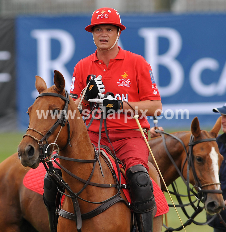 """**ALL ROUND PICTURES FROM SOLARPIX.COM**.**WORLDWIDE SYNDICATION RIGHTS**.Day 1 of The inaugural tournament of """"Polo in the park"""" The World Polo Series London V Moscow at The Hurlingham Club  in Fulham, Central London...This pic: Jack Kidd..JOB REF:9170       SSD     DATE:05.06.09.**MUST CREDIT SOLARPIX.COM OR DOUBLE FEE WILL BE CHARGED**.**ONLINE USAGE FEE GBP 50.00 PER PICTURE - NOTIFICATION OF USAGE TO PHOTO @ SOLARPIX.COM**.**CALL SOLARPIX : +34 952 811 768 or LOW RATE FROM UK 0844 617 7637**"""