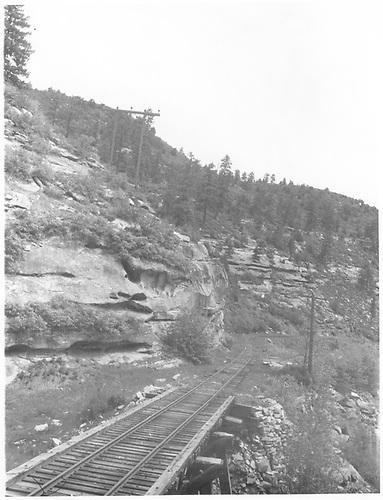 RGS Bridge 158-B in Wildcat Canyon.<br /> RGS  e. of Porter, CO