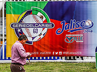 FEB 1 2018, Guadalajara, Jalisco Mexico. Caribbean Series 2018.<br /> Aspects of the Pan-American stadium or stadium of Los Charros de Jalisco, prior to the start of tomorrow's baseball party Serie del Caribe 2018 to be held in Guadalajara Jalisco. Fans are looking for the latest tickets at the box office today and start selling the jersey and official cap of the Mexican team as well as the Cuba, Dominican Republic, Venezuela and Puerto Rico. February 1, 2018<br /> (Photo / Luis Gutierrez)<br /> <br /> FEB 1 2018, Guadalajara, Jalisco Mexico. Serie del Caribe 2018.<br /> Aspectos del estadio Panamericano o estadio de los Charros de Jalisco, previo al inicio el dia de ma&ntilde;ana de la fiesta del beisbol Serie del Caribe 2018 a celebrarse en  en Guadalajara Jalisco. Aficionados buscan los ultimos boletos en taquilla el dia de hoy e inicio la venta de la jersey y gorra oficial del equipo Mexicano asi como las Cuba, Republica Dominicana, Venezuela y Puerto rico. 1 de febrero de 2018.<br /> (Foto / Luis Gutierrez)
