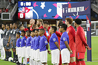 WASHINGTON, D.C. - OCTOBER 11: The starting eleven of the United States during their Nations League game versus Cuba at Audi Field, on October 11, 2019 in Washington D.C.