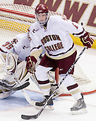 Patrick Wey (BC - 6) - The Boston College Eagles defeated the University of Massachusetts-Amherst Minutemen 2-1 (OT) on Friday, February 26, 2010, at Conte Forum in Chestnut Hill, Massachusetts.