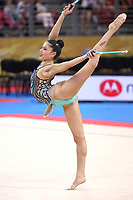 September 13, 2018 - Sofia, Bulgaria - MELINA BALDASSARRI of Italy performs clubs routine at 2018 World Championships.
