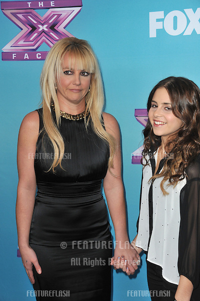 "Britney Spears & Carly Rose Sonenclar (right) at the press conference for the season finale of Fox's ""The X Factor"" at CBS Televison City, Los Angeles..December 17, 2012  Los Angeles, CA.Picture: Paul Smith / Featureflash"