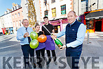 Der O'Sullivan, Rachel Lynch, Alan Quirke and Alan O'Sullivan, pictured on Saturday last they celebrated selling the €500,00 Euro millions ticket at Der Sullivan's Tralee.