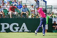 Justin Thomas (USA) watches his tee shot on 10 during Sunday's final round of the PGA Championship at the Quail Hollow Club in Charlotte, North Carolina. 8/13/2017.<br /> Picture: Golffile | Ken Murray<br /> <br /> <br /> All photo usage must carry mandatory copyright credit (&copy; Golffile | Ken Murray)