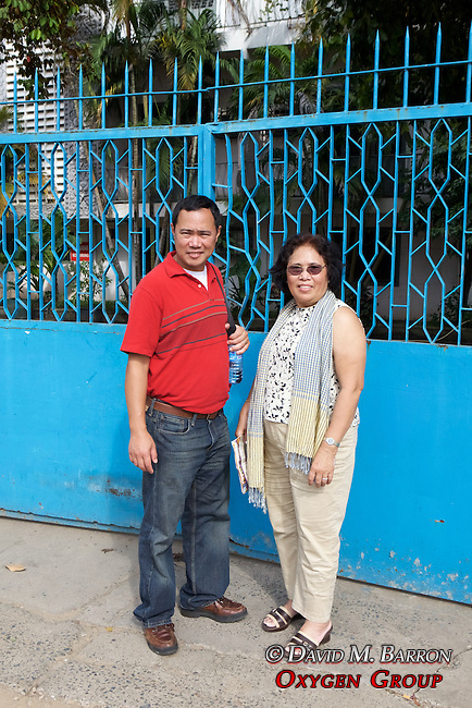 Tony & Meoun In Front of Former US Embassy Gates