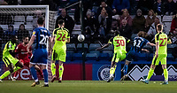 Rochdale's Luke Matheson (2nd right) scoring his side's first goal <br /> <br /> Photographer Andrew Kearns/CameraSport<br /> <br /> The EFL Sky Bet League One - Rochdale v Bolton Wanderers - Saturday 11th January 2020 - Spotland Stadium - Rochdale<br /> <br /> World Copyright © 2020 CameraSport. All rights reserved. 43 Linden Ave. Countesthorpe. Leicester. England. LE8 5PG - Tel: +44 (0) 116 277 4147 - admin@camerasport.com - www.camerasport.com
