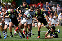 Crusaders' Manasa Mataele in action during the Super Rugby Preseason - Hurricanes v Crusaders at Levin Domain, Levin, New Zealand on Saturday 2 February 2019. <br /> Photo by Masanori Udagawa. <br /> www.photowellington.photoshelter.com