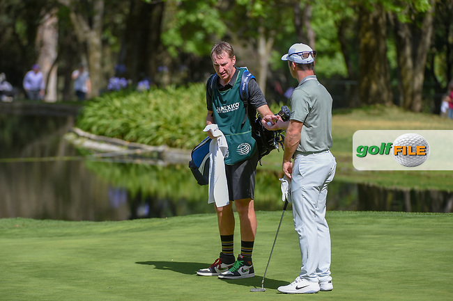 Paul Casey (GBR) and his caddie, John McLaren discuss their putt on 6 during round 1 of the World Golf Championships, Mexico, Club De Golf Chapultepec, Mexico City, Mexico. 2/21/2019.<br /> Picture: Golffile | Ken Murray<br /> <br /> <br /> All photo usage must carry mandatory copyright credit (© Golffile | Ken Murray)