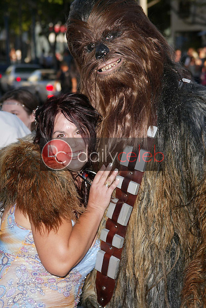 """Fileena Bahris and Chewbacca<br /> at the """"Star Wars: Revenge Of The Sith"""" Los Angeles Premiere, Mann Village, Westwod, CA 05-12-05<br /> David Edwards/DailyCeleb.Com 818-249-4998"""
