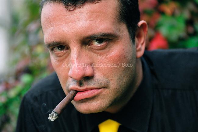 Italian writer Andrea Pinketts. Le Mans, October 16, 2001 - © Ulf Andersen