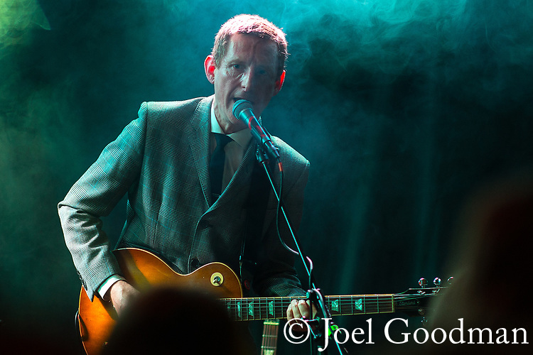 © Joel Goodman - 07973 332324 - all rights reserved . NO ONWARD SALE, TRANSFER OR SYNDICATION PERMITTED . 09/04/2018 . Manchester , UK . STEPHEN GRIFFIN . Interrobang play live at Jimmy's . Photo credit : Joel Goodman