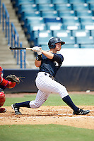GCL Yankees Nathan Mikolas #60 hits his first professional home run during a Gulf Coast League game against the GCL Phillies at Legends Field on July 17, 2012 in Tampa, Florida.  GCL Phillies defeated the GCL Yankees 4-2.  (Mike Janes/Four Seam Images)