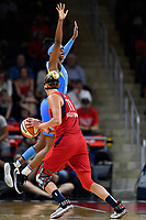 Washington, DC - September 8, 2019: Washington Mystics forward Elena Delle Donne (11) makes a move by Chicago Sky guard Diamond DeShields (1) during game between the Chicago Sky and Washington Mystics at the Entertainment and Sports Arena in Washington, DC. The Mystics locked up the #1 seed in the Playoffs by defeating the Sky 100-86. (Photo by Phil Peters/Media Images International)