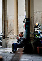 A vagabond in Turin (Italy, 15/06/2010)