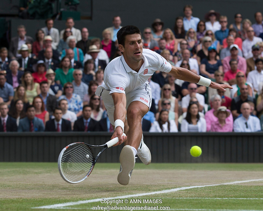 NOVAK DJOKOVIC (SRB)<br /> The Championships Wimbledon 2014 - The All England Lawn Tennis Club -  London - UK -  ATP - ITF - WTA-2014  - Grand Slam - Great Britain -  6th July 2014. <br /> <br /> &copy; AMN IMAGES