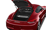 Car Stock 2015 Porsche Cayman S 2 Door Coupe Engine high angle detail view