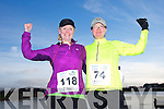Susan O'Donoghue and Pauline Joseph at the Valentines 10 mile road race in Tralee on Saturday.