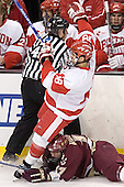 Brandon Yip, Joe Rooney - The Boston University Terriers defeated the Boston College Eagles 2-1 in overtime in the March 18, 2006 Hockey East Final at the TD Banknorth Garden in Boston, MA.