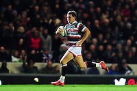 Freddie Burns of Leicester Tigers runs in a try in the second half. European Rugby Champions Cup match, between Leicester Tigers and Racing 92 on October 23, 2016 at Welford Road in Leicester, England. Photo by: Patrick Khachfe / JMP
