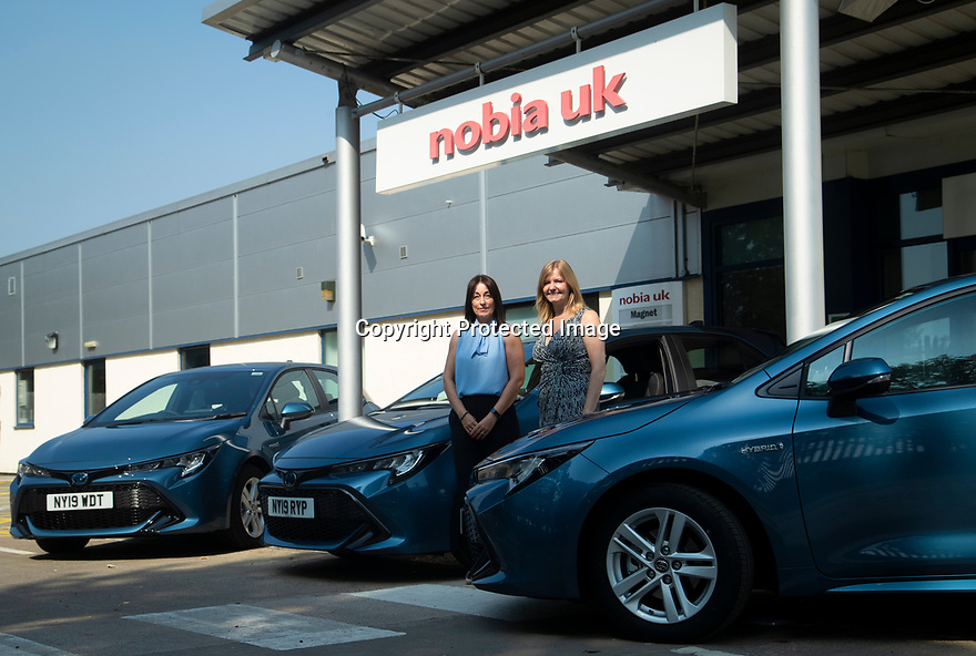 27/08/19<br /> <br /> Lisa Buckley (Toyota Area Fleet Sales Manager) delivers the final three Corollas to Tracy Barker at Nobia, Darlington.<br /> <br /> All Rights Reserved, F Stop Press Ltd +44 (0)7765 242650 www.fstoppress.com rod@fstoppress.com