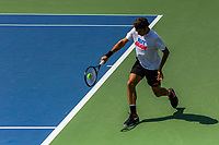 NEW YORK, USA - August 22 : Roger Federer during his practice match with Dominic Thiem on August 22, 2019 in New York, USA.<br /> People attend US Open the fan week with Featured practice matches with Roger Federer and Novak Djokovic (Photo by Luis Boza/VIEWpress)