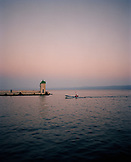 CROATIA, Bol, Brac, Dalmatian Coast, Island, fisherman fishing on Dalmatian coast